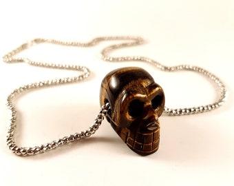 Tigereye Skull Pendant