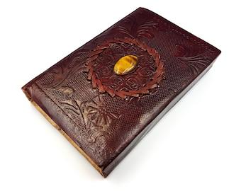 Amethyst Gemstone Leather Journal | Book