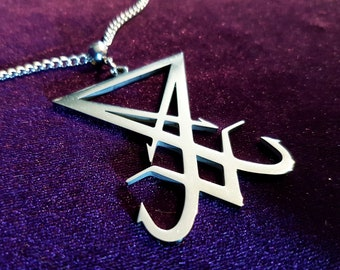 Stainless Steel Sigil of Lucifer Pendant