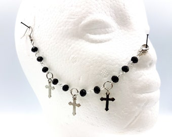 Triple Cross Victorian Gothic Nosechain
