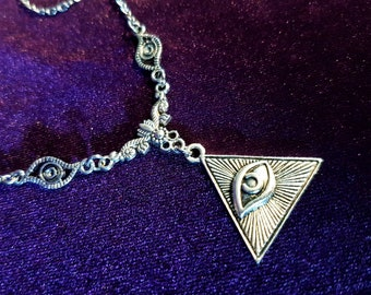 Eye of Providence Necklace (All Seeing Eye | Third Eye)
