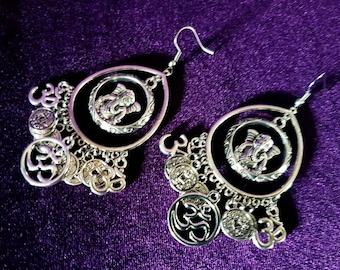 Ganesha Ohm Coin Earrings