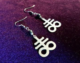 Satanic Cross | Brimstone | Leviathan Earrings (Stainless steel)