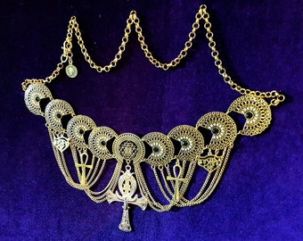Egyptian Ankh Hip Chain Belt