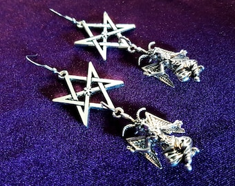 Baphomet Thelema Earrings