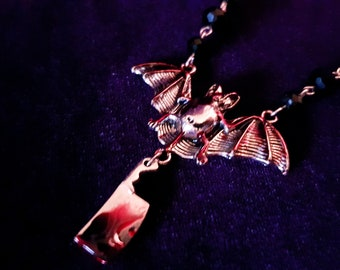 Blood Bat Necklace