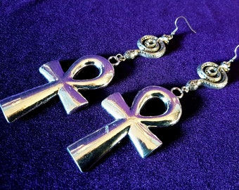 Apep Ankh Earrings