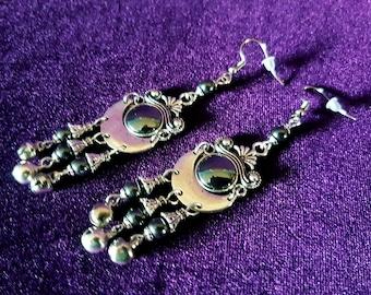 Hematite Bell Earrings