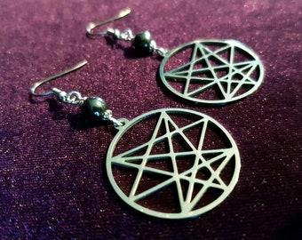 Order of the Nine Angles Stainless (Steel Earrings)
