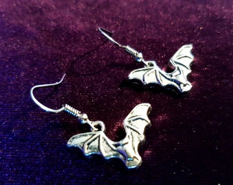 Gothic Bat Earrings (2styles)