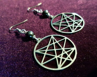 Order of the Nine Angles Stainless Steel Earrings