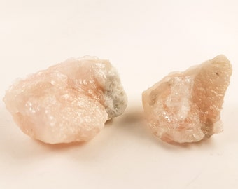 Raw Morganite Stones (2 different crystals)