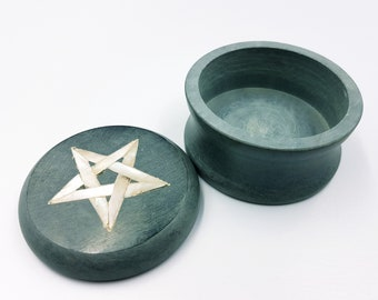 Stone Abalone Pentagram Altar | Jewellery Box