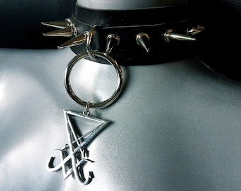 Sigil of Lucifer Ring Spike Choker