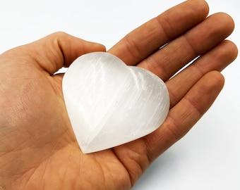 Selenite Crystal Healing Heart
