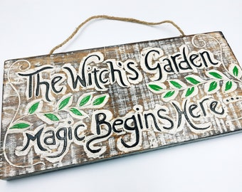 Witch's Garden Wall Plaque