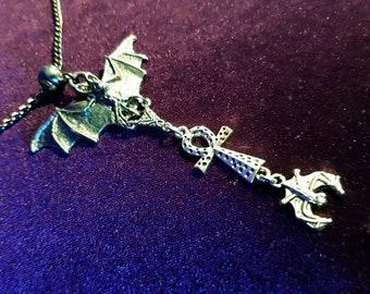 Bat Ankh Necklace