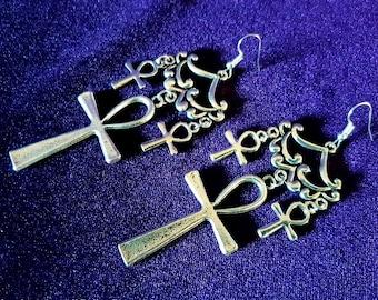 Vampire Ankh Earrings