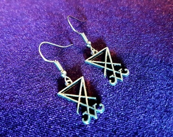Mini Sigil of Lucifer Earrings (2Styles)