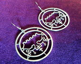 Sigil of Belial Earrings (2styles | Stainless Steel)