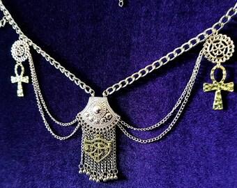 Egyptian Priestess Hip Chain Belt