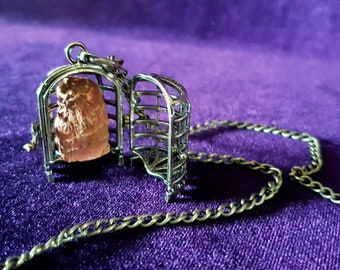 Mandrake Root Cage Necklace - Mandragora Officinarum Root