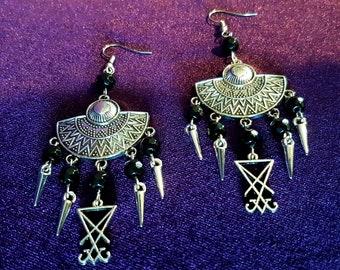 Luciferian Spike Earrings