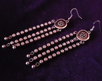 Rhinestone String Earrings