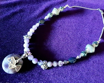 Amethyst Beaded Pharao Necklace