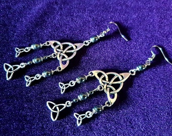 Triquetra Goddess Earrings