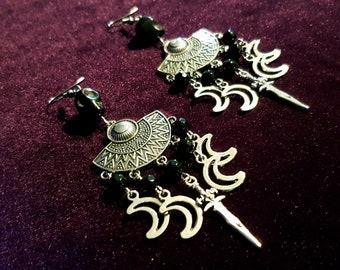 Moon Dagger Earrings