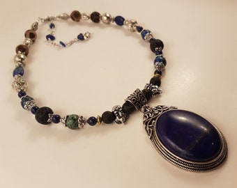 Lapis Lazuli Protection Necklace (Completly Handmade)