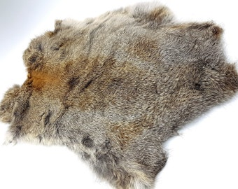 Rabbit Pelt (Grey - Brown - White)