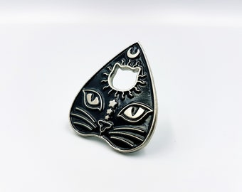Ouija Cat Planchette Pin