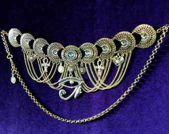 Egyptian Eye of Horus Hip Chain Belt