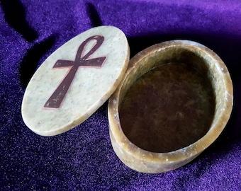 Ankh Altar | Jewellery Box (Saponite / Soapstone)