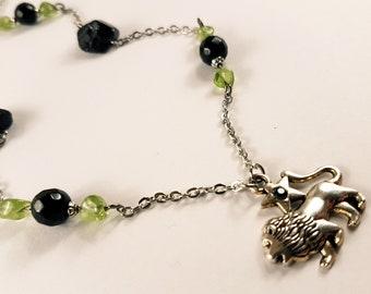 Leo Gemstone Zodiac Necklace