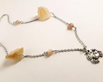 Cancer Gemstone Zodiac Necklace