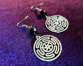 Hekate's Wheel (Strophalos) Earrings