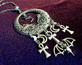 Trad Goth Bat Jusa Necklace