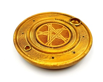 Wooden Pentagram Incense Holder / Burner