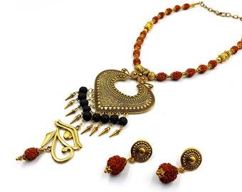 Eye of Shiva Ritual Necklace / Earstuds Set