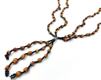 Cedar Berry Ghost Beads Protection Necklace (Completely Handmade by the Navajo Tribe)