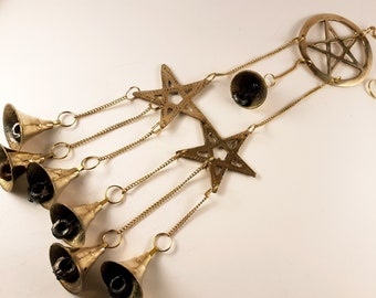 Long Triple Pentagram Wind Bells