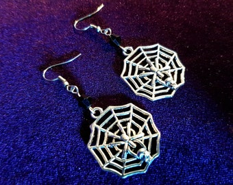 Gothic Spider Web Earrings