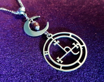 Sigil Of Lilith Stainless Steel Necklace