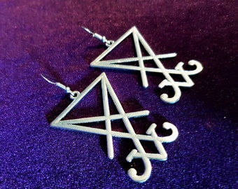 Big Sigil of Lucifer Earrings (2 Styles)