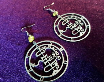 Sigil of Asmoday Earrings ( Stainless Steel)