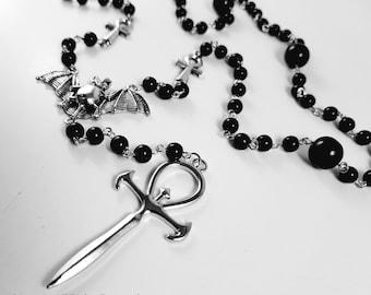 Vampire Ankh Rosary (5 decades)