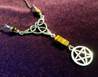 Triquetra Pentagram Rear View Mirror Charm (Car Accessory)